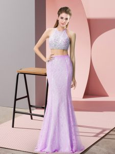 Sleeveless Beading and Lace Backless