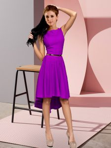Purple Sleeveless Lace Up Prom Dress for Prom and Party