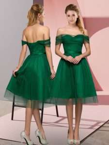 Dynamic Green Prom Dresses Prom and Party with Beading and Lace Off The Shoulder Sleeveless Lace Up