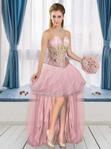 Shining Sweetheart Sleeveless Tulle Celebrity Inspired Dress Appliques Lace Up