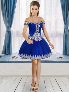 Modern Royal Blue Sleeveless Tulle Lace Up Prom Party Dress for Prom and Party and Military Ball