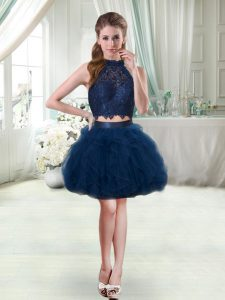 Navy Blue Sleeveless Prom Party Dress for Prom and Party
