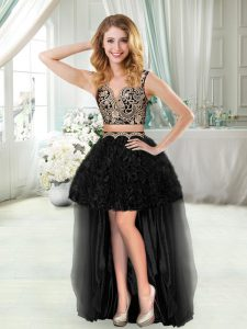 Clearance Sleeveless Straps Ruffles Prom Dresses