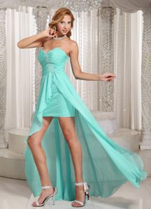 Custom Made Sweetheart High-low Apple Green Prom Dress in Bellbrook OH