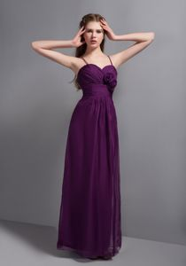 Sexy Purple Ankle-length Empire Prom Gowns with Ruches in Lubbock