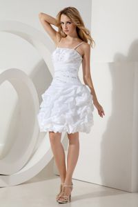 White A-line Straps Prom Dress in Arniston with Beading and Pick-ups
