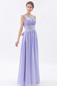 Column Beaded Lilac Prom Gowns in Ballito Scoop Neckline for Design