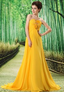 Gold Flower and Ruche for Stylish Prom Court Dresses in Braamfontein