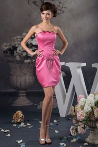 Beading and Ruches Accent for Mini Hot Pink Prom Gowns in Durbanville