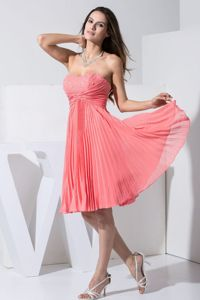 Beading and Pleating for Watermelon Red 2013 Dresses for Prom Queen