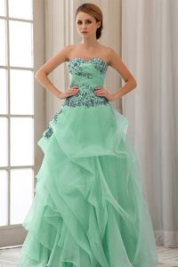 Sweetheart Appliques for Apple Green Prom Dresses in Port Coquitlam