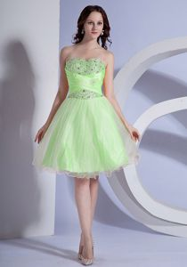 New Westminster for Beading Prom Dresses in Spring Green and A-line