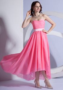 Watermelon Red Dresses for Prom Court 2013 Sweetheart in High-low