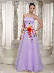 Beading Bust and Handle Flowers Prom Court Dresses in Norfolk County