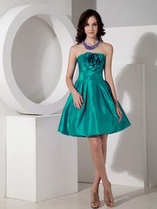 New Westminster A-line Flowers Mini Senior Prom Gowns in Turquoise