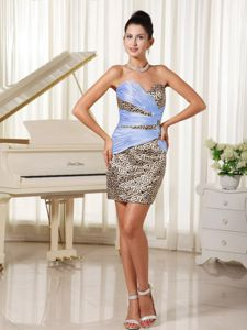 Sweetheart Mini Dresses for Prom Queen with Leopard Harker Heights