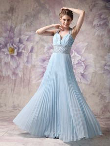 Recommended Pleated Beaded Baby Blue Prom Outfits in Hudson OH