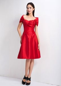 Special Red Sweetheart Knee-length Semi-formal Prom Dresses in Morris