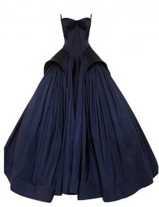 Captivating Navy Blue A-line Strapless Sleeveless Taffeta Floor Length Zipper Ruching