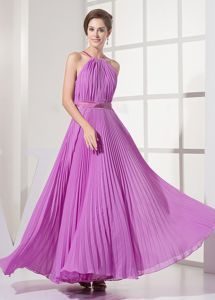 Plus Size Pleated Lavender Floor-length Seniors Prom Dresses in Fashion