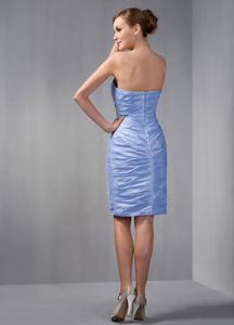 Simple Style Sweetheart Beaded Ruched Short Prom Dress in Medina USA