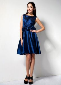 Wholesale Scoop Neck Royal Blue Short Informal Prom Dress with Flowers
