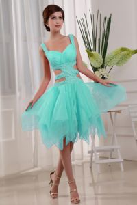 Sexy Apple Green Ankle-length Informal Prom Dress with Beading in Kansas