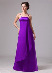 New Eggplant Purple Long Prom Outfits with Spaghetti Straps in Effingham
