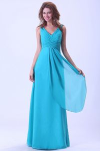 Simple Style Zipper-up Baby Blue Long Junior Prom Dress in Orrville OH