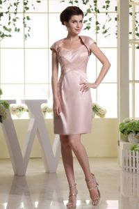 New Arrival Spaghetti Straps Baby Pink Short Prom Outfits for Wholesale