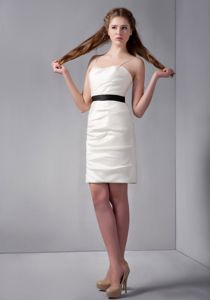 Classic Simple White Mini Prom Dress with Spaghetti Straps for Wholesale