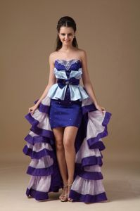 Special Multi-color High-low Prom Dress with Ruffles in Portsmouth OH