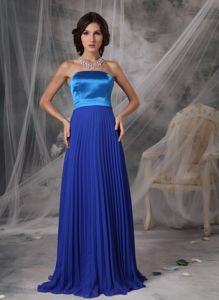 Discount Brush Train Strapless Prom Dress with Pleat in Dunblane