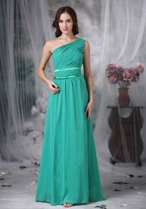 Pretty Chiffon One Shoulder Beaded Dress for Prom in Dunstable