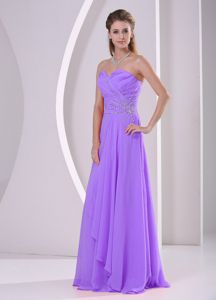 Sweetheart Beaded Purple Formal Chiffon Dress for Prom in The Mainstream