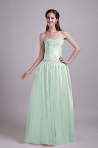 Apple Green Empire Floor-length Prom Dresses with Sweetheart in Loraine