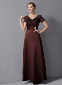 Simple Style Burgundy V-neck Formal Prom Dresses in Linden USA