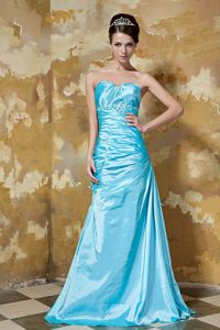 Classic Beaded Ruched Sweetheart Prom Gown Taffeta in Cranbrook