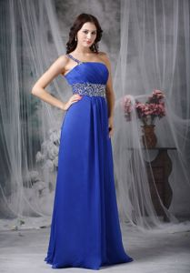 New Arrival Blue One Shoulder Beading Prom Dresses in Tenterden