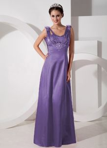 2014 Purple Floor-length Prom Dress with Beading in Inchinnan Estate