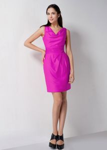 Fuchsia V-neck Mini-length Formal Prom Dress in Maryborough QLD