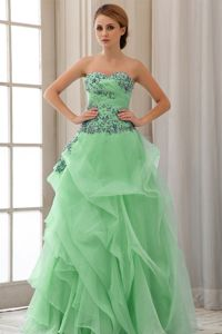 Sweetheart Appliqued Prom Dresses in Green in Rockhampton QLD