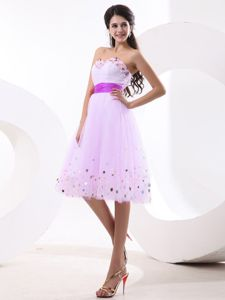 Light Pink Sequined Informal Prom Dress with Sash in Hervey Bay QLD