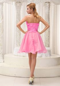 Hand Flowery Hot Pink Prom Cocktail Dress with Beading in ...
