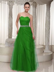 Beaded Floor-length Tulle Sweetheart Prom Dress in Wollongong NSW