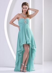 Impressive Junior Prom Dress with Beaded and Appliqued Bodice