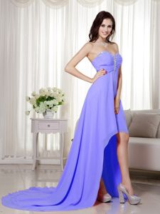 Flattering Beading Lilac Sweetheart Prom Outfits in Livingston Lothian