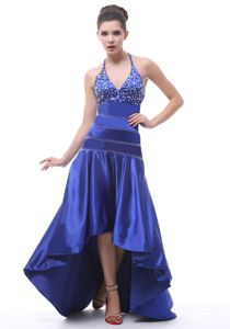 Blue Halter Taffeta Beading Junior Prom Dress in Soham Cambridgeshire