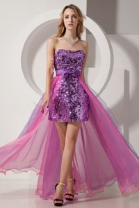 Gorgeous Detachable Strapless Prom Outfits with Bow and Sequin