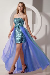 Detachable Strapless Sequined Prom Gowns with Bow in Craigavon